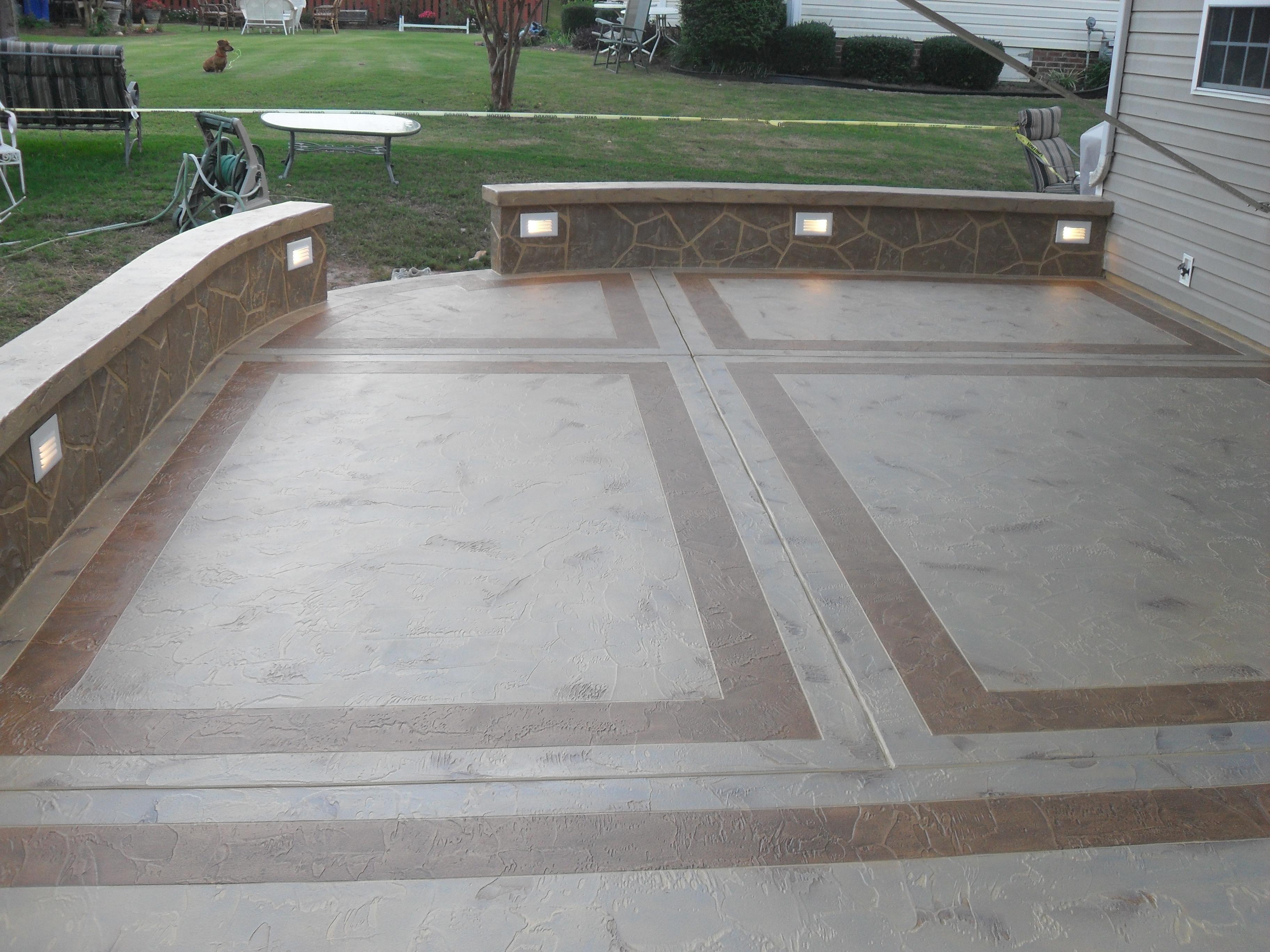 Concrete Patio Design Contractor, Ashburn Northern VA & DC ... on Cement Patio Ideas id=27291