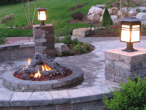 Outdoor Fire Pit Design and Construction Pavers Driveways ... on Fire Pit Design  id=81433