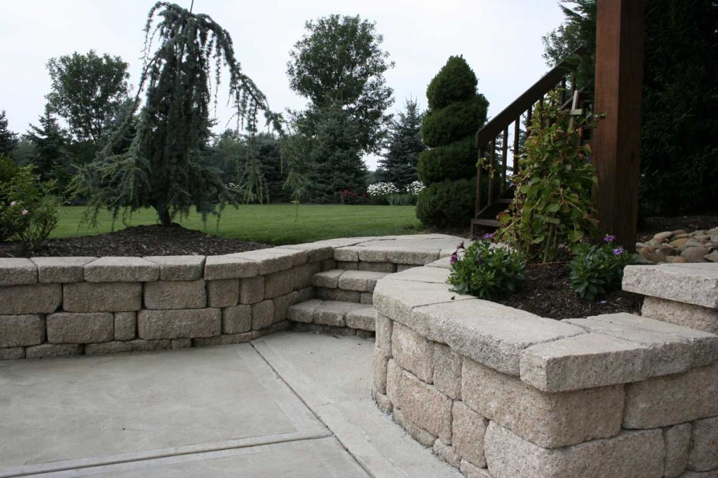 Small Landscaping Walls Centreville Fairfax County Virginia North